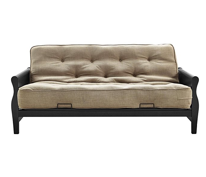BHG Wood Arm Futon with Coil Mattress