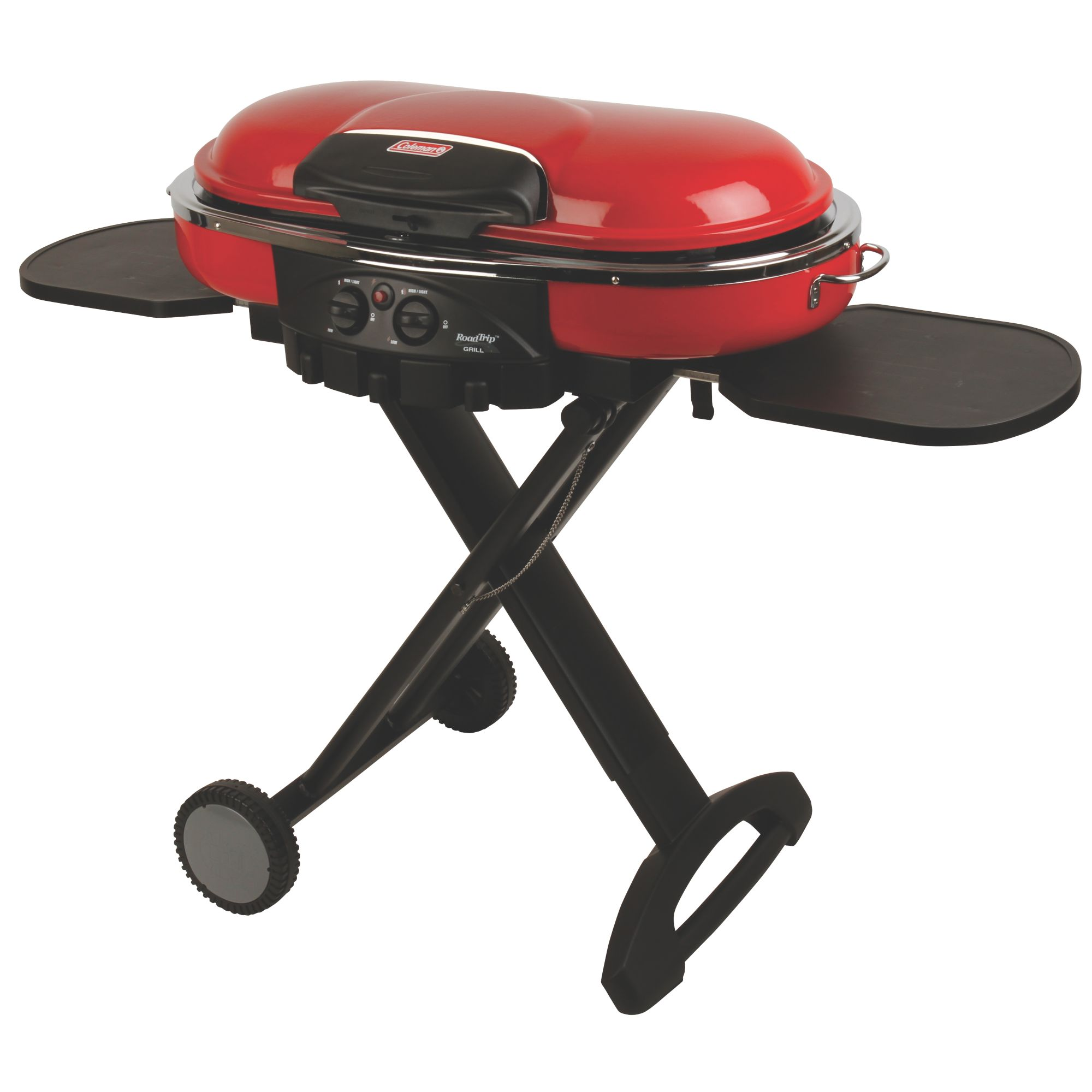 Coleman Roadtrip LXE Propane Barbecue – Portable, Push-Button Ignition, PerfectFlow Even Cooking, Folds for Transporting and Storage