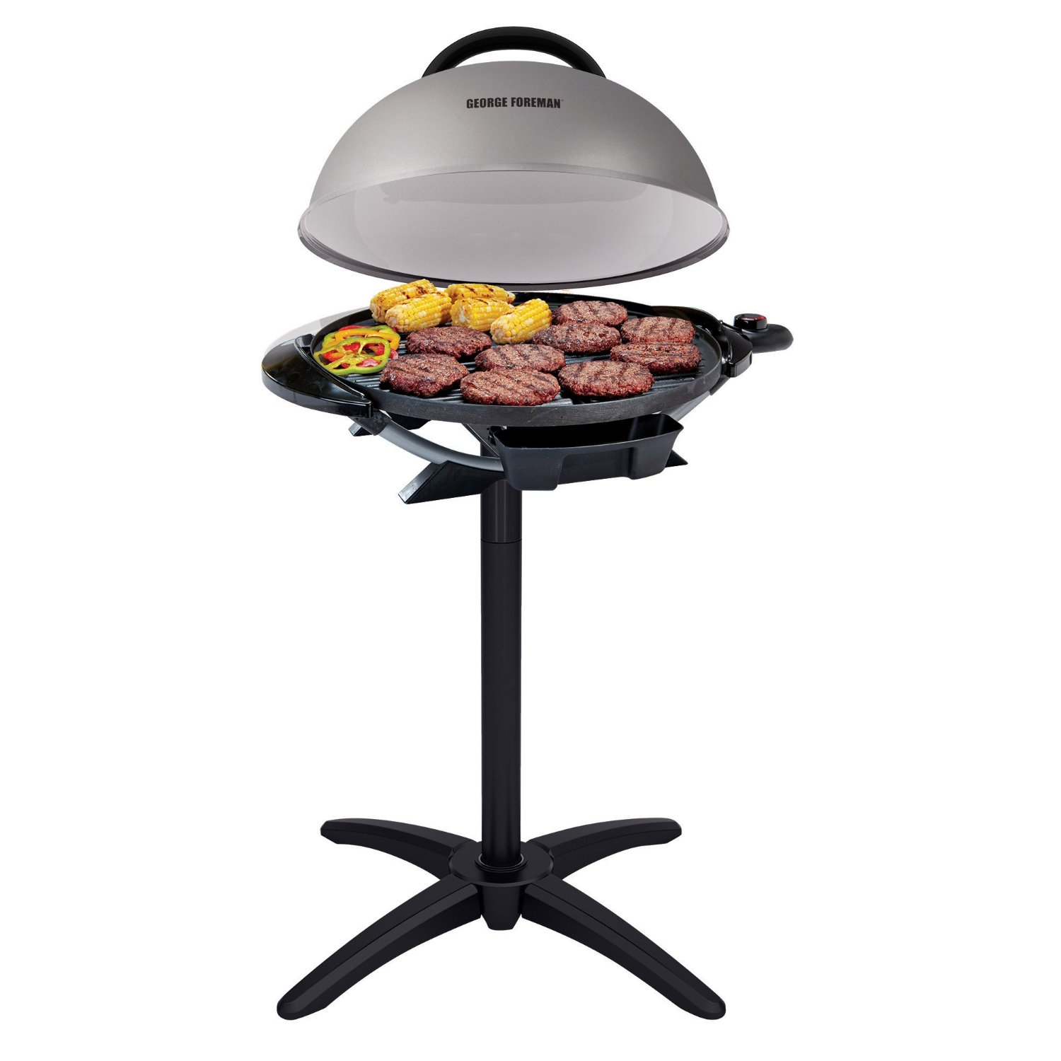 George Foreman 15 Serving Indoor/Outdoor Electric BBQ Grill