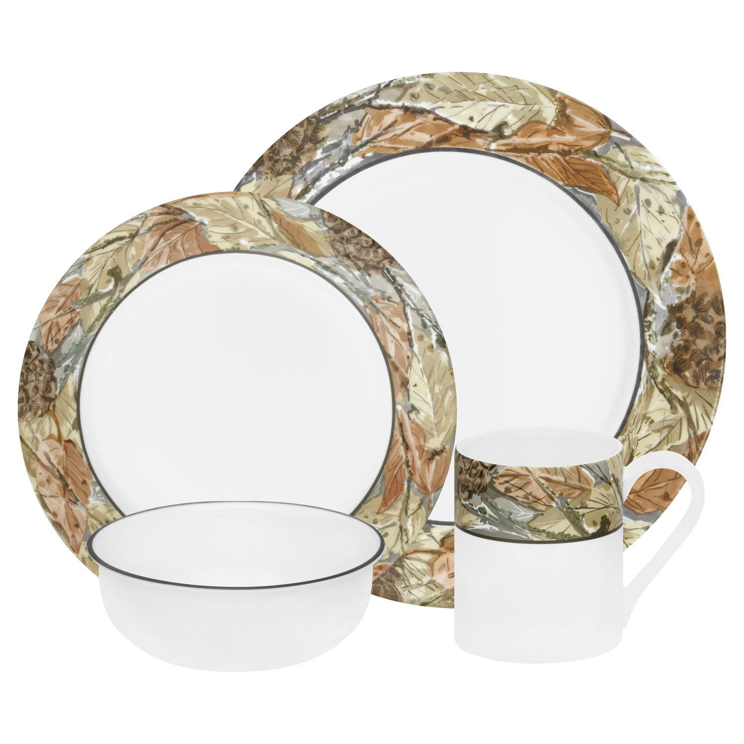 Corelle® Impressions™ Woodland Leaves Dinnerware Set for Fall