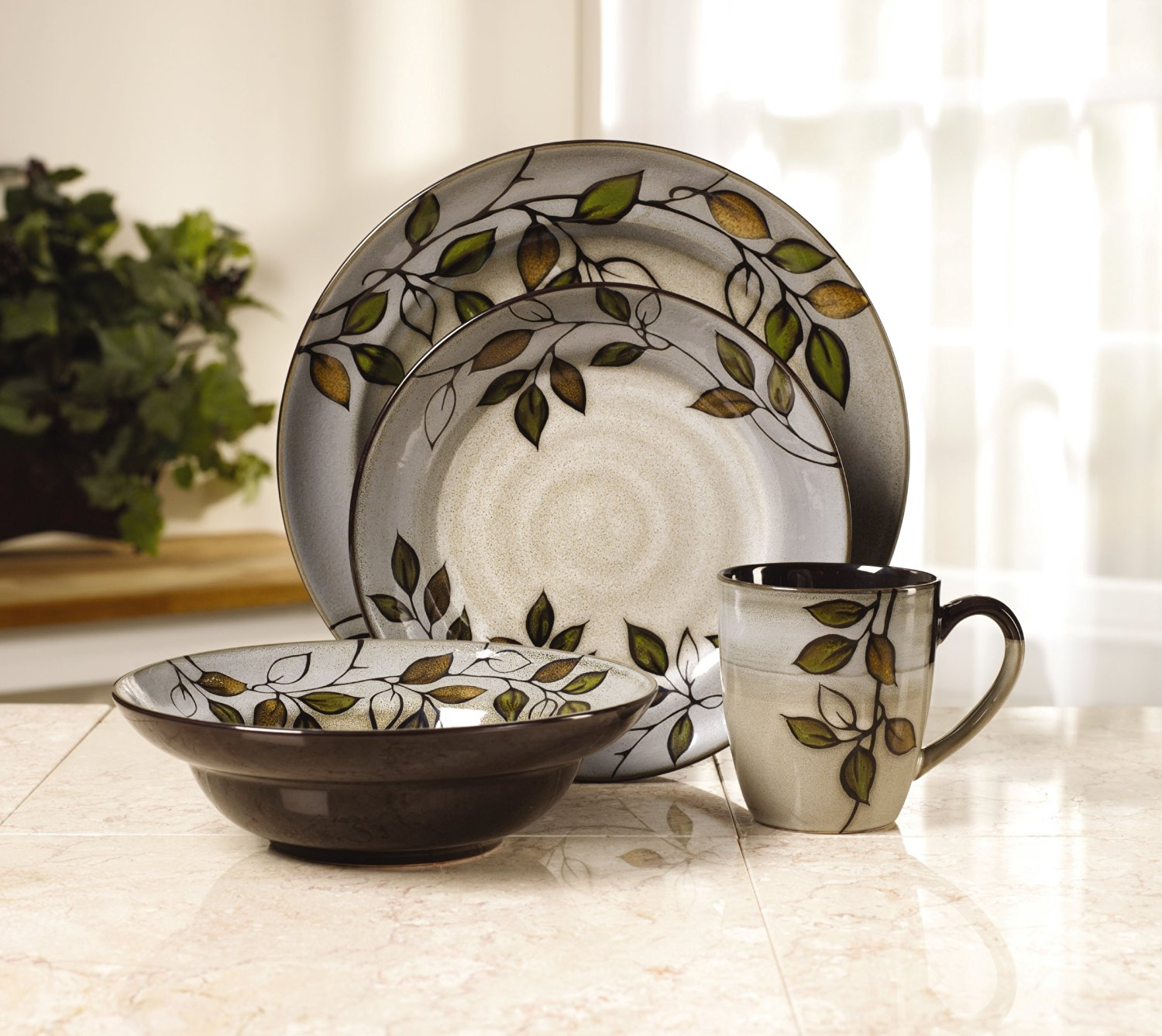 Pfaltzgraff Rustic Leaves Dinnerware Set for Fall