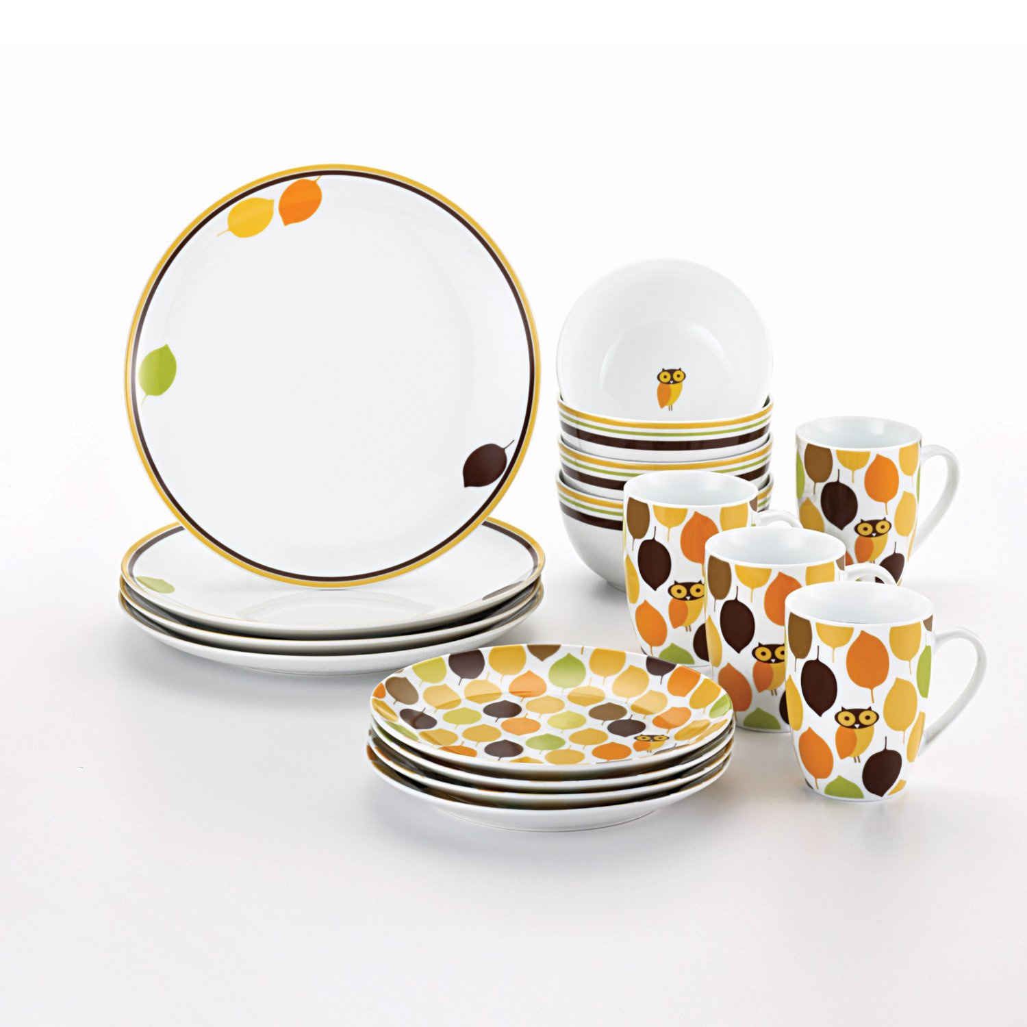 Rachel Ray Little Hoot Dinnerware Set for Fall