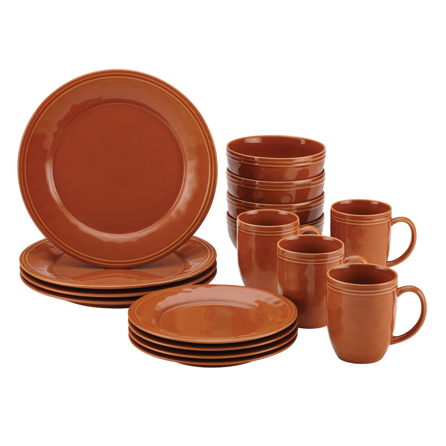 Rachel Ray Cucina Pumpkin Orange Dinnerware Set for Thanksgiving