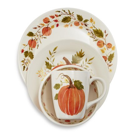 Sur La Table Pumpkin Dinnerware Set for Thanksgiving