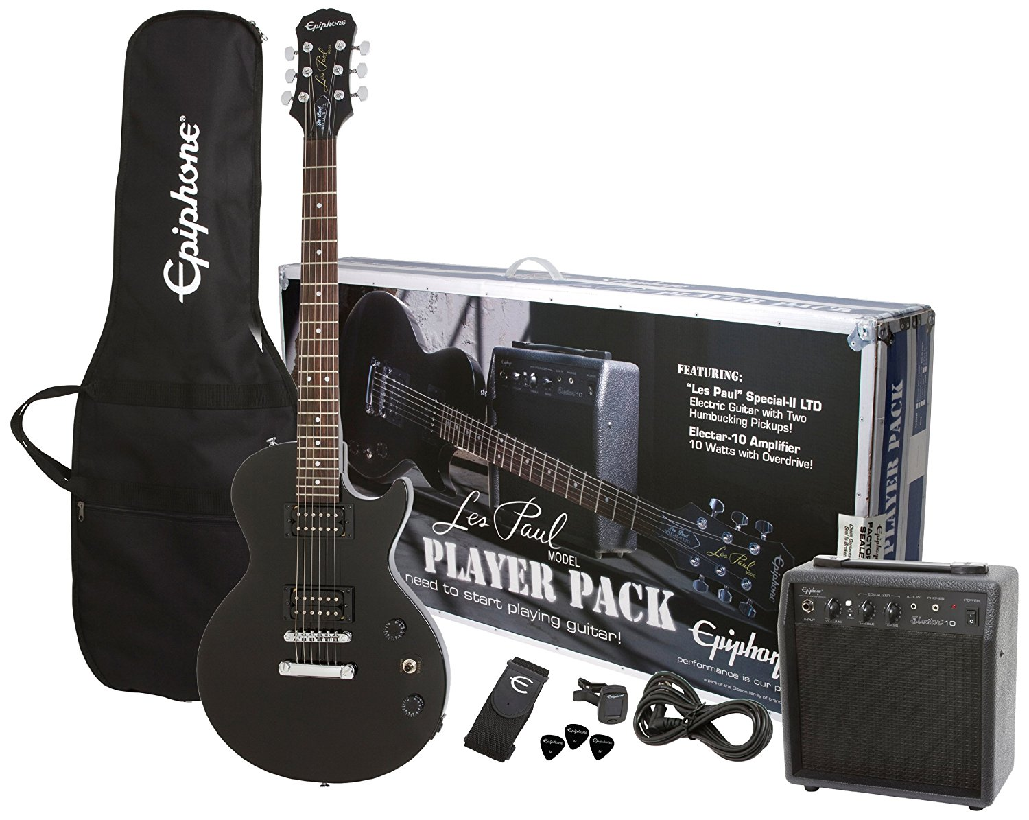 Epiphone Les Paul Special II Electric Guitar Player Package – Multiple Configurations and 3 Finish Options