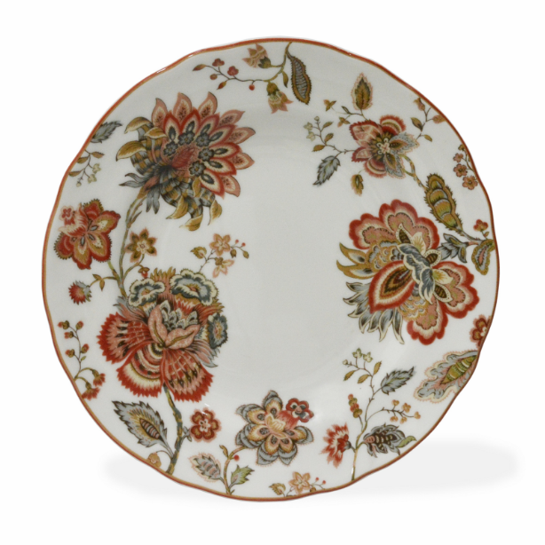 222 Fifth Winter Floral Red Dinnerware Set