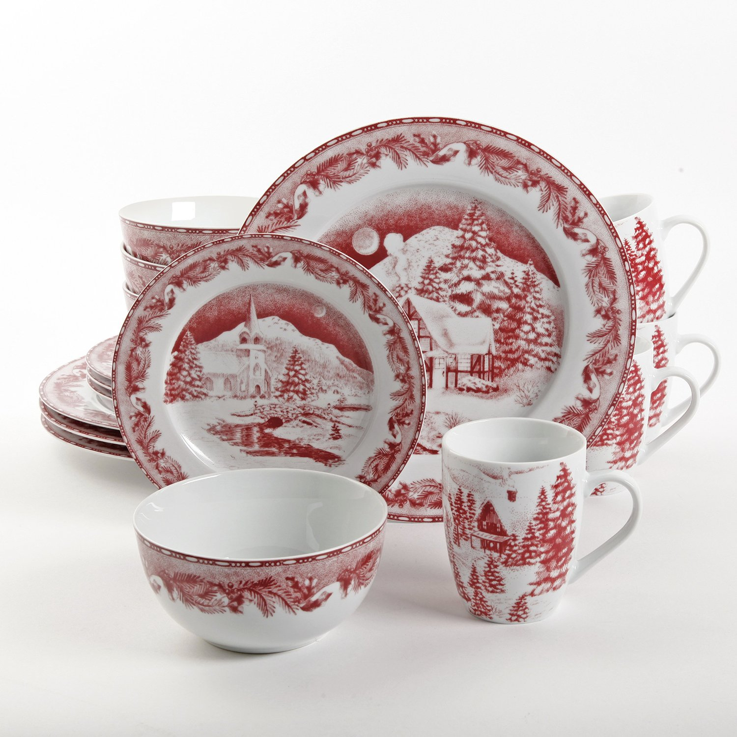 Gibson Elite Winter Cottage Dinnerware Set