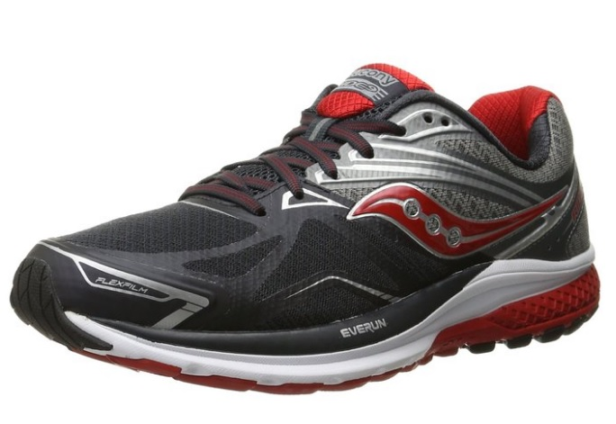 Saucony Men's Ride 9 Jogging Shoe w/ Rubber Sole and Plush Cushioning, Available in 4 Designs