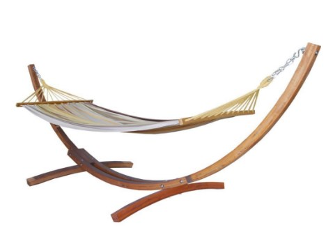Prime Garden Cotton Hammock with Stand