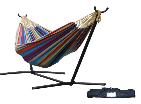 Vivere Double Cotton Hammock with Stand