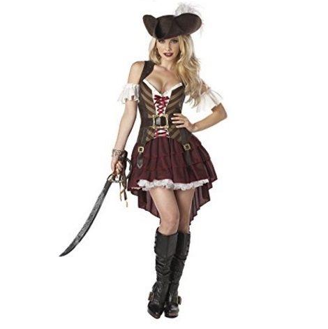 California Costumes Women's Sexy Swashbuckler Pirate Costume with Pirate Hat – Available in Multiple Sizes