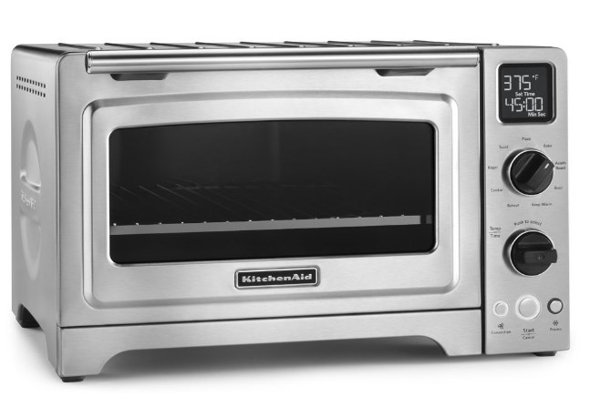 "KitchenAid 12"" Convection Bake Digital Countertop Oven with 9 Pre-Programmed Functions"