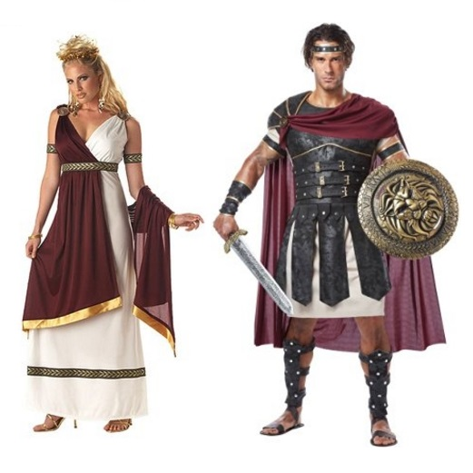 California Costumes - Roman Empress & Gladiator (Many Other Couple's Costumes)
