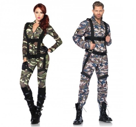 Leg Avenue Pretty Paratrooper Jumpsuit – Make this a Couple's Halloween Costume with the Men's Paratrooper Jumpsuit