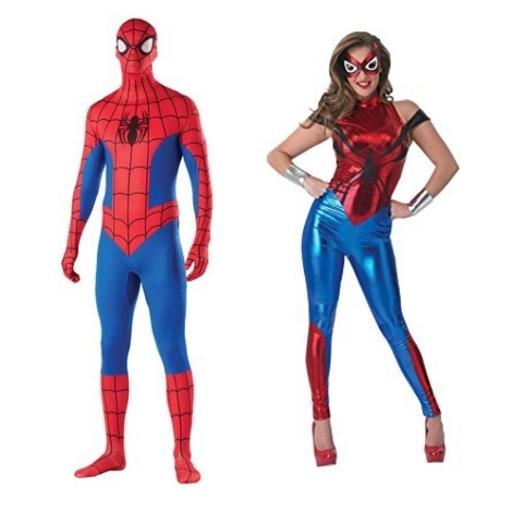 Rubie's Halloween Costumes for Couples – Spidergirl and Spiderman (Plus Many More)