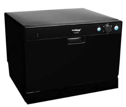 Koldfront Black Countertop Dishwasher