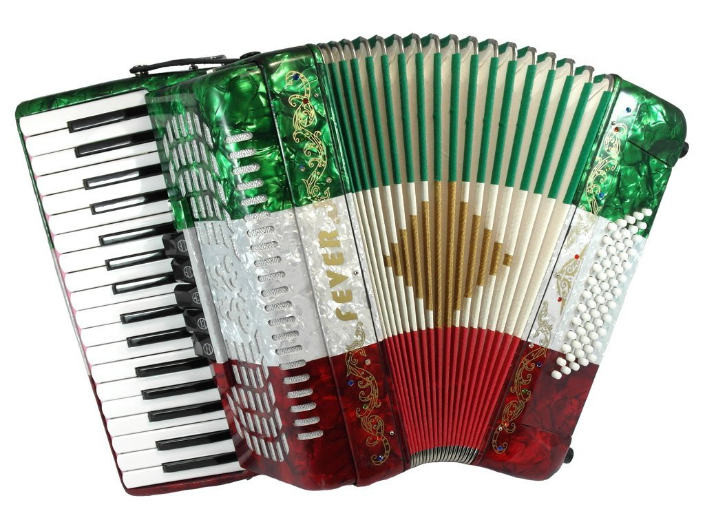 Fever F3460 Piano Accordion with Case and Straps (5 Colors)