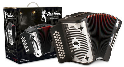 Hohner Panther G/C/F 3-Row Diatonic Accordion - Comes with Straps, Cleaning Cloth, and Hohner Diatonic Method Book