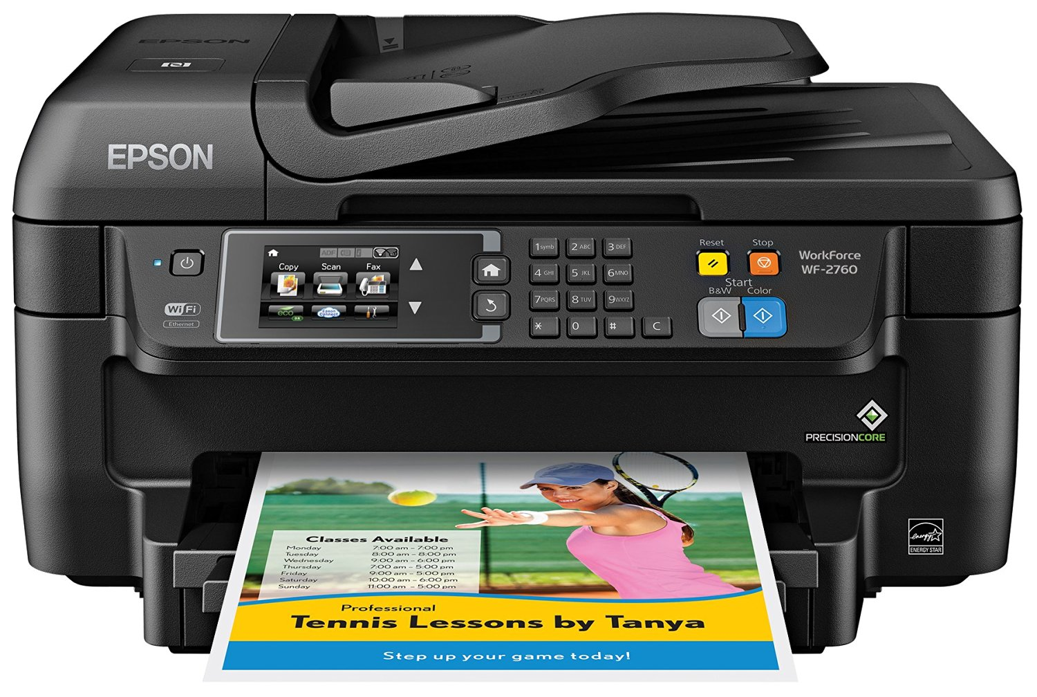 Epson Laser All-in-One Wireless Printer with Wi-Fi Direct & Smartphone and Tablet Printing