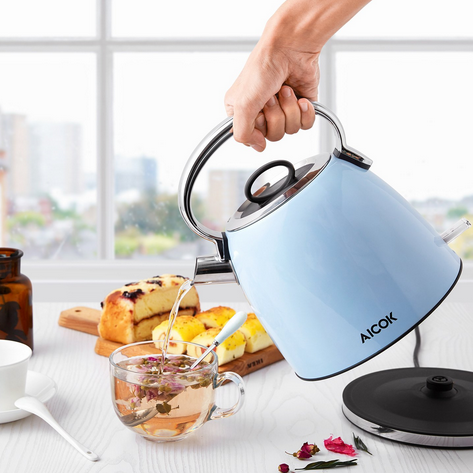 Aicok Stylish Blue Electric Kettle