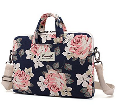 Canvaslife White Rose Laptop Bag