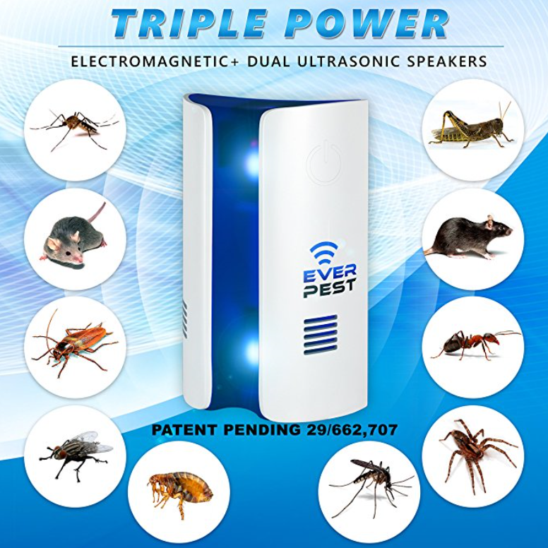 EverPest Ultrasonic Electromagnetic Pest Repellent