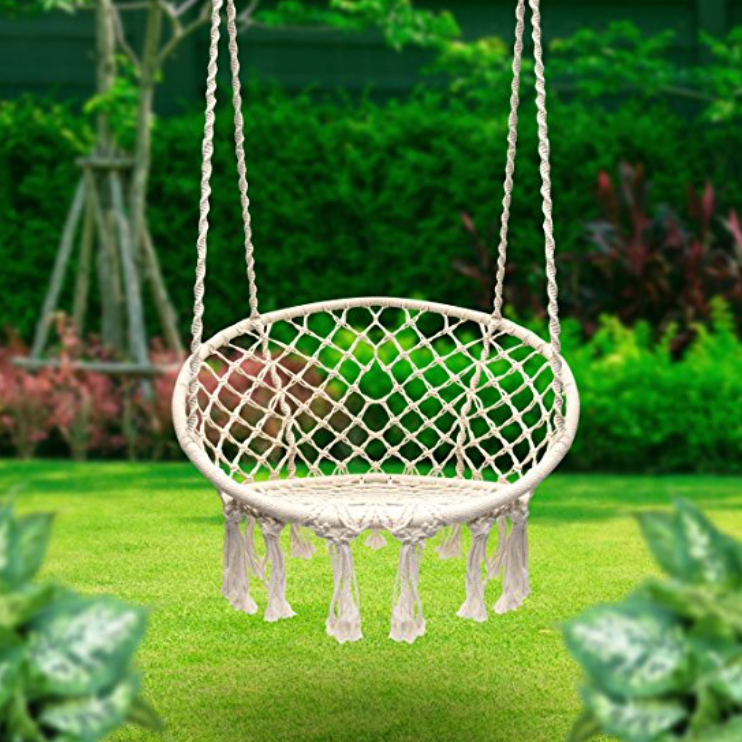 Sorbus Macrame Swing Hammock Chair