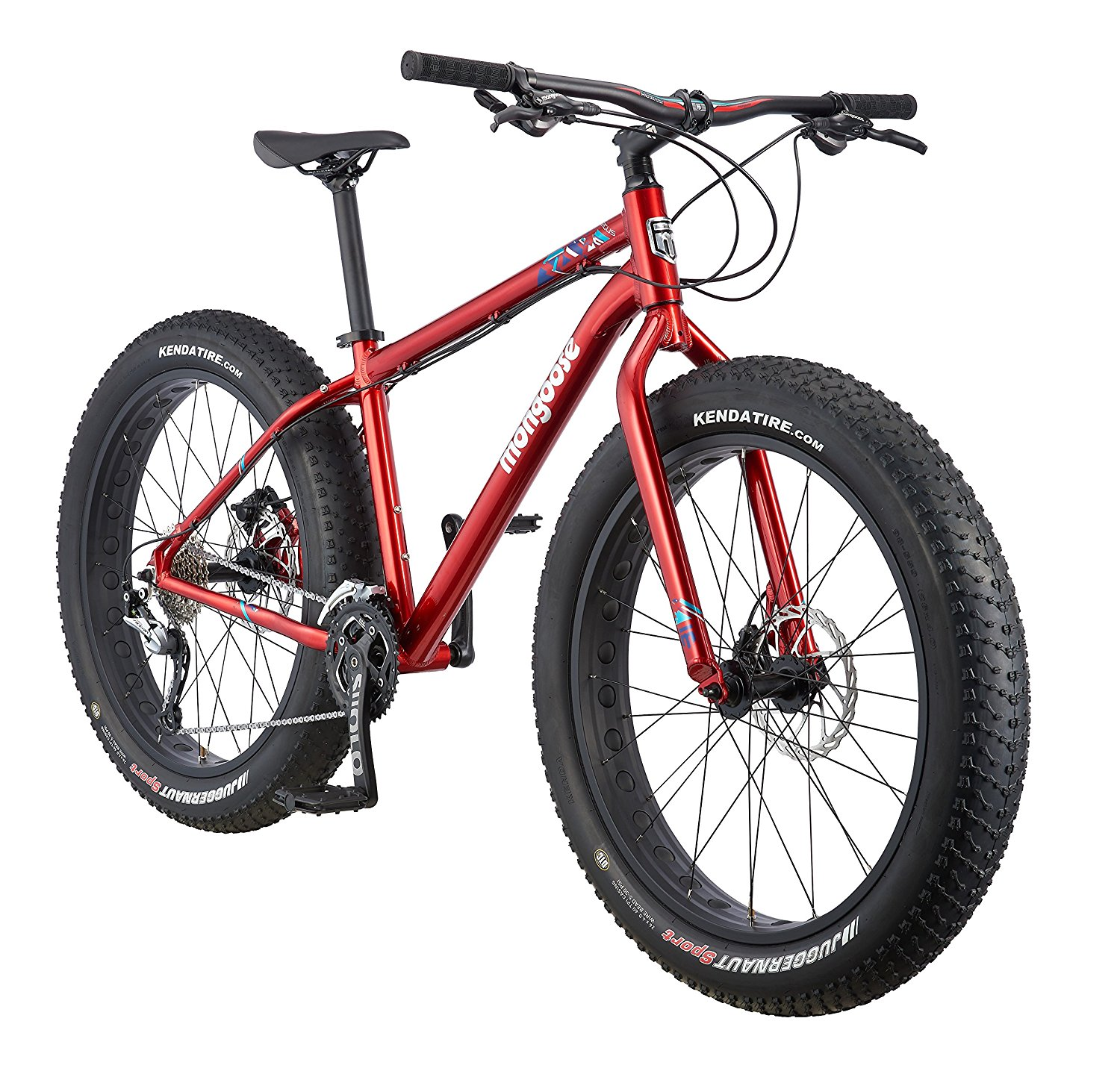 "Mongoose Argus Fat Tire Mountain Bike with 26"" Wheels – Available in 3 Frame Sizes and 3 Colors"