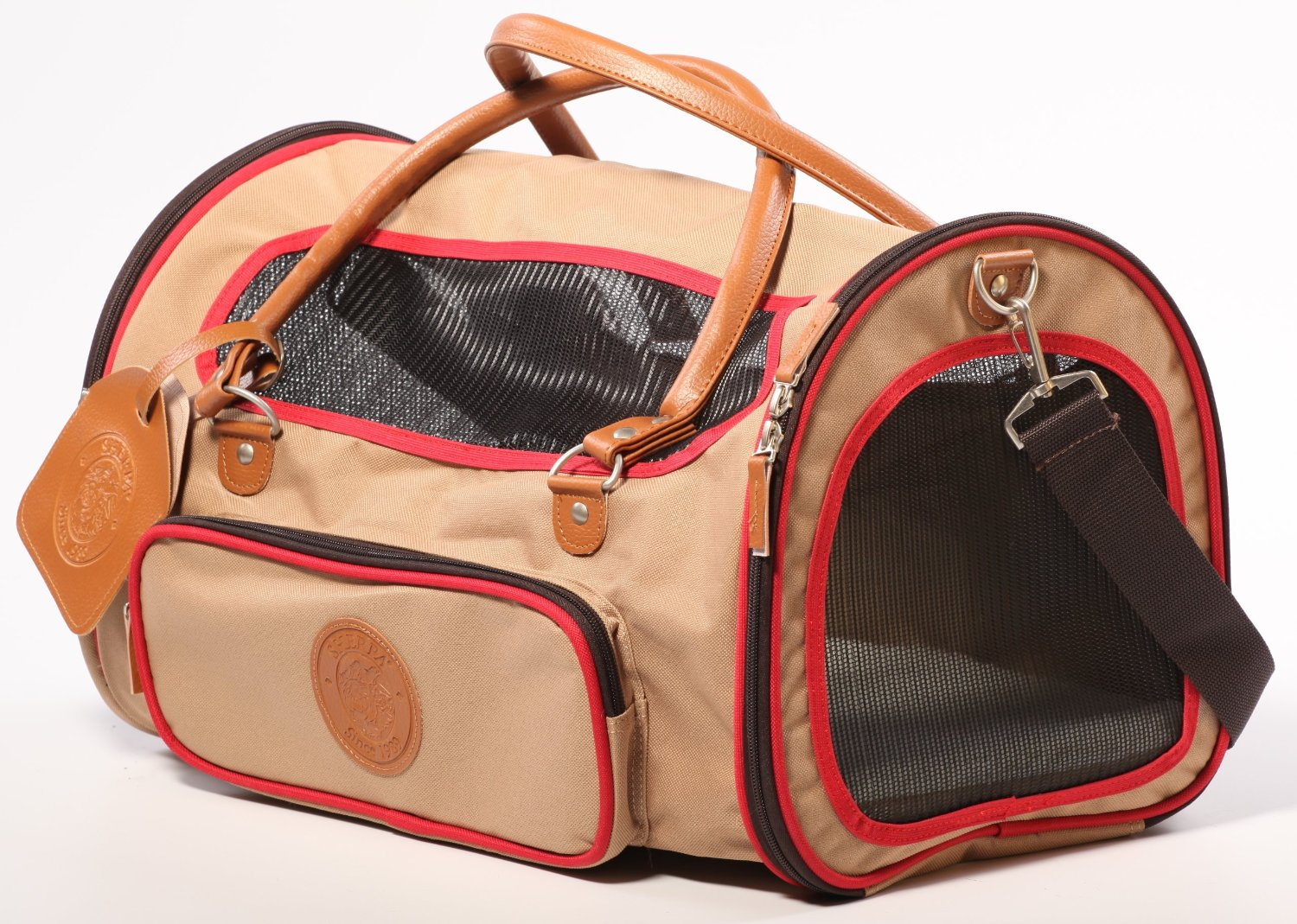 Sherpa Element Duffle Pet Carrier with Dual Entry and Approved by Most Airlines - Available in 2 Sizes