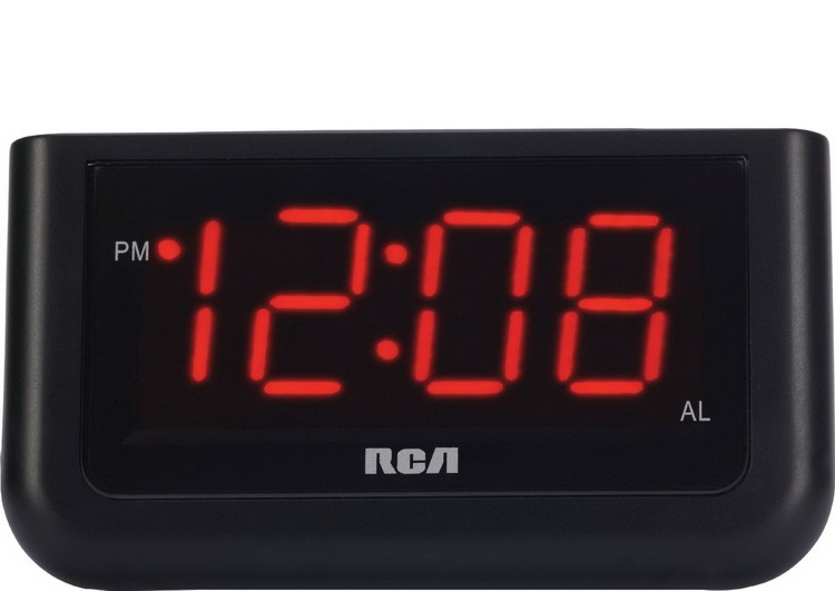 RCA Digital Alarm Clock with Alarm Indicator and Snooze Button