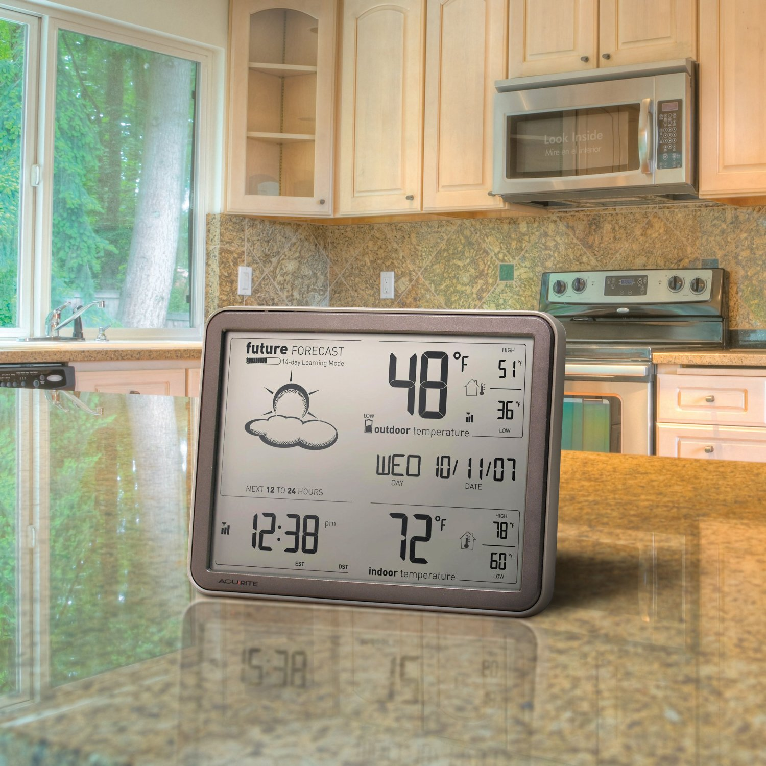 AcuRite Wall Clock with Weather Station and Jumbo Display