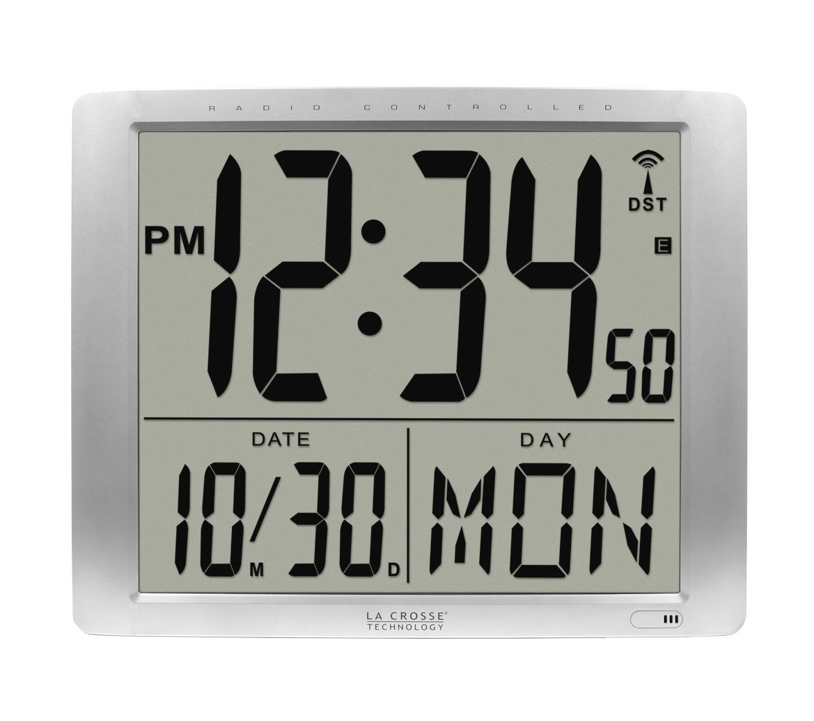 La Crosse Technology Jumbo Digits Atomic Wall Clock