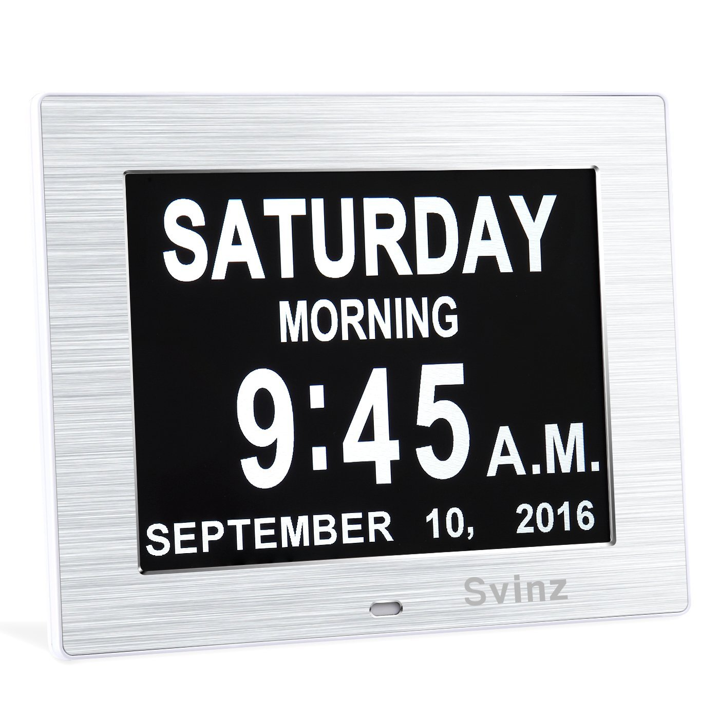 Svinz Memory Loss Wall-Mountable Day Clock with Digital Calendar