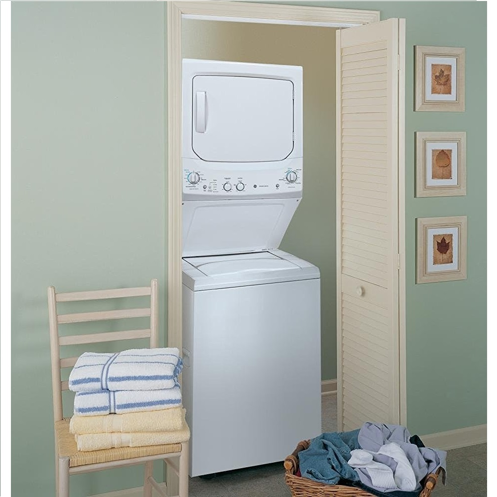 GE Unitized SPACEMAKER® Washer and Electric Dryer Set