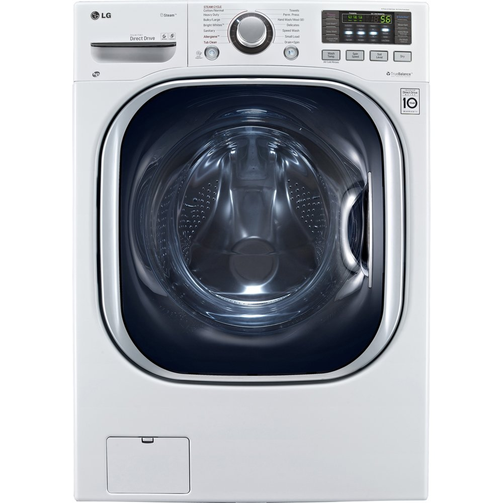 LG Ventless 4.3 Cu. Ft. Capacity Steam Washer/Dryer Combination – Front Loading with TurboWash, TrueBalance Anti-Vibration and More