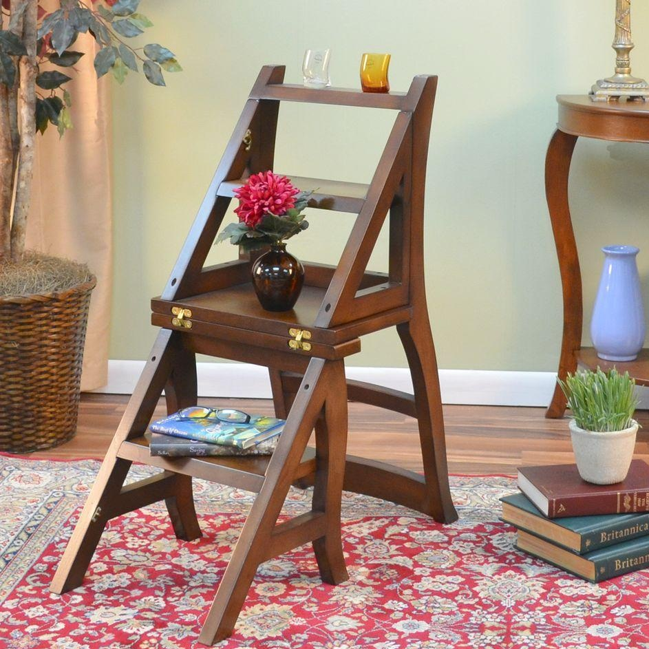 Carolina Cottage Folding Ladder Chair