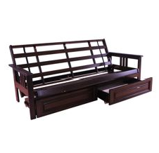 Kodiak Furniture Monterey Wood Espresso Futon Frame – Comes in Full or Queen Size, Optional Drawers Available