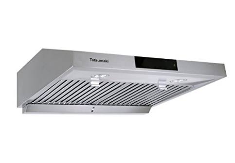 "Hauslane Chef Series 30"" Under Cabinet Stainless Range Hood - Contemporary Design, Touch Screen, Dishwasher Safe Baffle Filters, LED Lamps, 3-Way Venting"