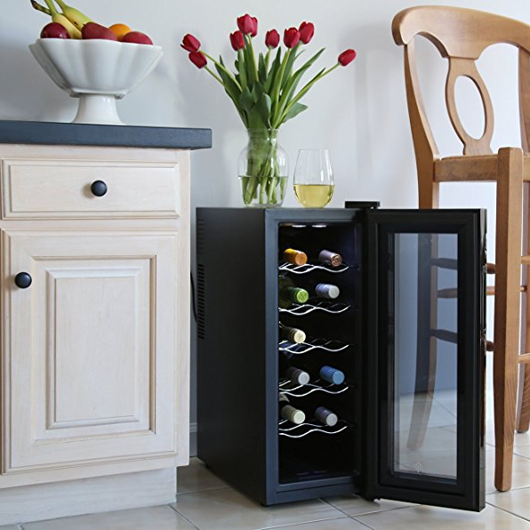Ivation 12-Bottle Freestanding Wine Cooler