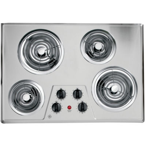 GE Electric Cooktop - Stainless Steel, GE Fits Guarantee & Touch controls – Available With Expert Installation