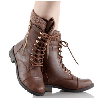 Forever Link Women's Combat Boots Mango-31