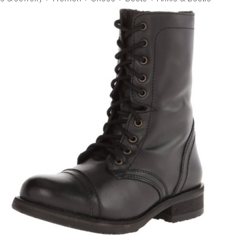 Steve Madden Women's Combat Boot Troopa 2.0-Available in Stone Leather, Black Leather, Cognac Leather and Wine Leather