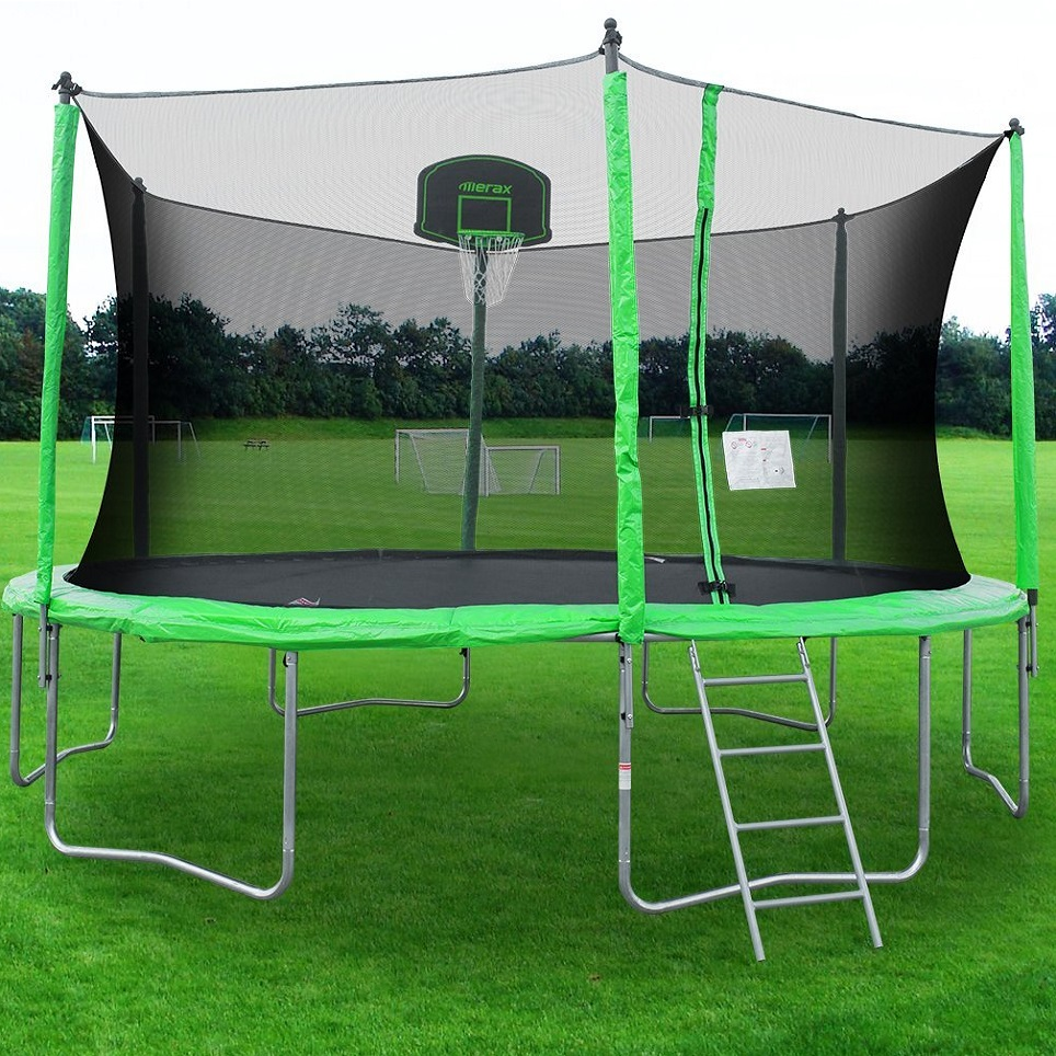 Merax Round Trampoline with Safety Enclosure