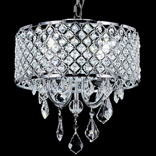 Diamond Life 4-Light Round Crystal Chandelier