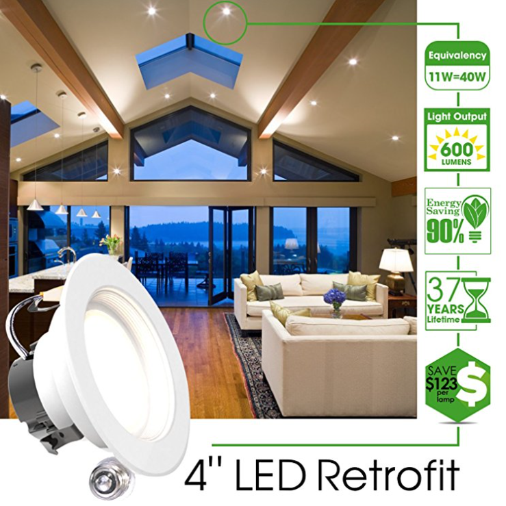 Sunco Lighting Dimmable Recessed Ceiling Lights