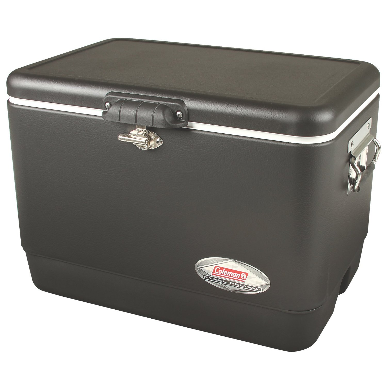 Coleman 54-Quart Steel-Belted Cooler – Rust and Leak Proof, Rubber Grips, Available in 8 Colors