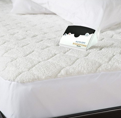 Biddeford Blankets Sherpa Quilted Skirt Electric Heated Mattress Pad – Available in Multiple Sizes