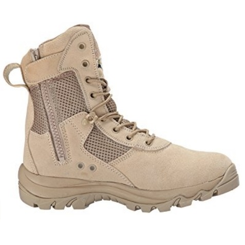 Maelstrom LANDSHIP 8'' Tan Tactical Boot with Zipper