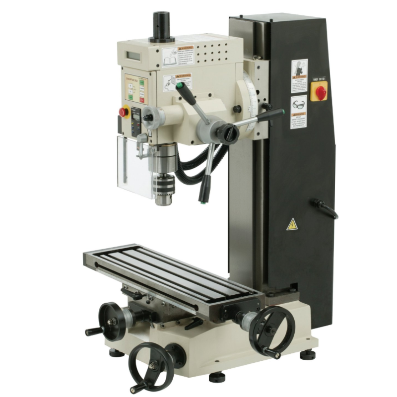"Shop Fox 6"" x 21"" Mill/Drill — Deluxe Variable Speed of 100-1,750 RPM — 14+ Inches Headstock Movement with 90 Degree Tilt"