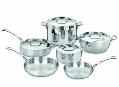Cuisinart French Classic Tri-Ply Stainless Pots and Pans - Available in 10 and 13 Piece Sets